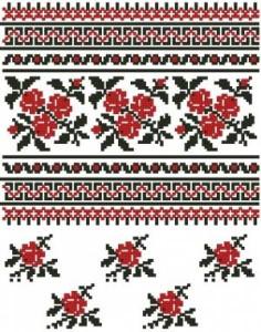 Схема Розы для сорочки