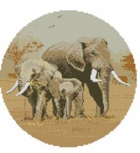 Схема Семья слонов