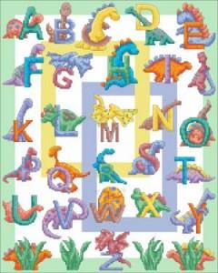 Схема Алфавит с динозавриками