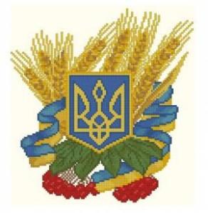 Схема Герб Украины, колосья