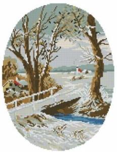Схема Времена года. Зима (овал)