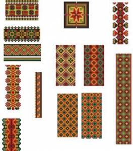 Схема Орнамент разнообразие лент