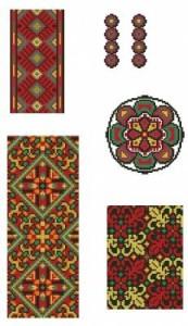 Схема Орнамент, три ленты и медальон