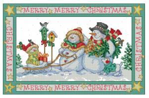 Схема Семья снеговиков