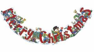 Схема Юбка под елку Снеговики Рождество