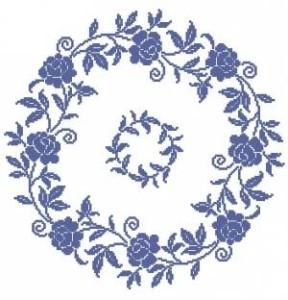 Схема Голубые розы (круг)