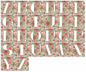 Схема Алфавит крупный на розовом