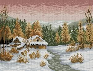 Схема Зимний вечер