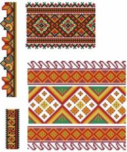 Схема Красочные орнаменты, ленты