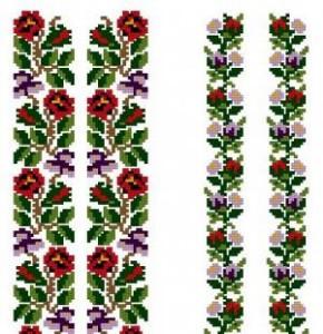 Схема Цветочный узор для сорочки