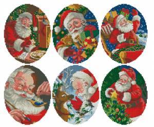 Схема Рождественские мотивы. Санта Клаус
