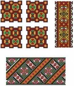 Схема Орнамент, квадраты и ленты