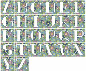 Схема Алфавит крупный на голубом