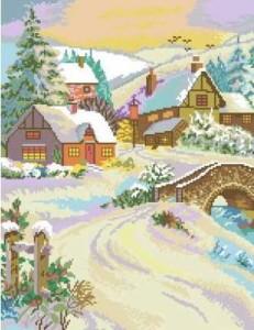 Схема Зимний пейзаж