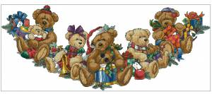 Схема Рождественские медвежата. Юбка