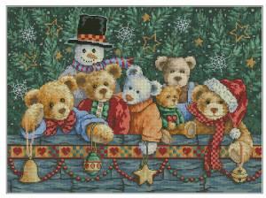 Схема Рождественские медведи