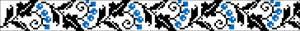 Схема Узор красивые голубые цветы