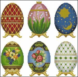 Схема Яйца пасхальные, разные