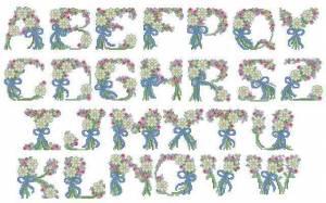 """Схема Алфавит """"Летний цветок"""""""
