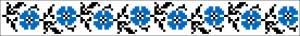 Схема Узор крупные голубые цветы