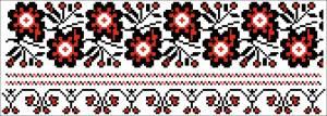 Схема Узор цветы