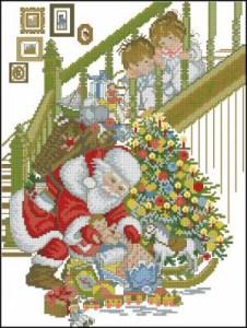 Схема Санта и дети