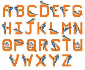 Схема Алфавит с колибри