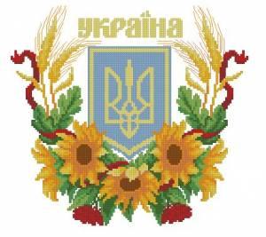 Схема Герб Украины, подсолнухи