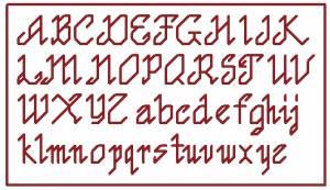 Схема Алфавит красный