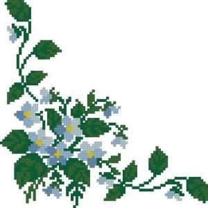 Схема Угловой узор с цветами