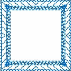 Схема Салфетка в голубых тонах
