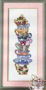 Схема Кухня. Пирамида из чашек
