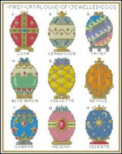 Схема Яйца пасхальные, драгоценные