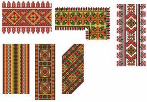 Схема Орнамент разноцветный