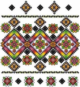 Схема Узор цветочный, яркий