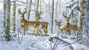 Схема Зимний лес / Woodland Winter