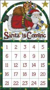 Схема Календарь Санты