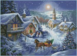 Схема Новогодний пейзаж