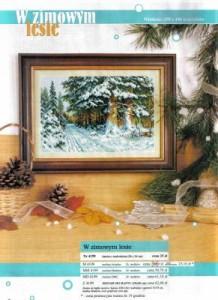 Схема Зимний лес