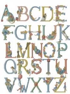 Схема Алфавит с животными и птицами