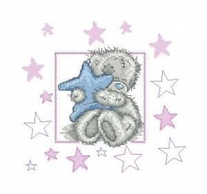 Схема Мишки Тедди, Обнимает звезду