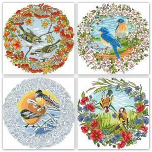 Схема Сезонные птички