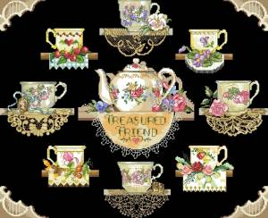 Схема Чайный сервиз (макет)