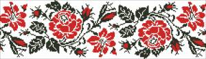 Схема Узор цветочная лента розы