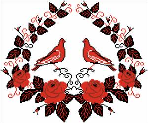 Схема Рушник с птицами