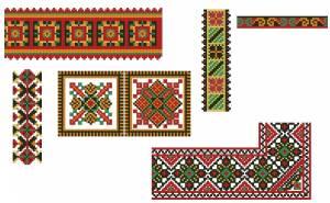 Схема Орнамент ленты и квадраты