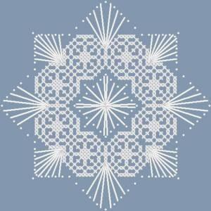 Схема Снежинка ажурная