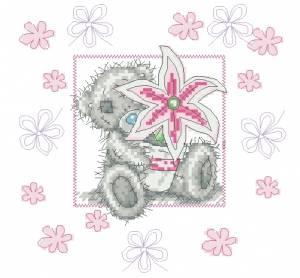 Схема Мишки Тедди, цветок