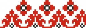 Схема Узор, лента, красный