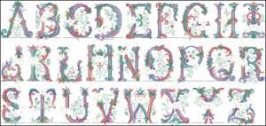 Схема Викторианский алфавит